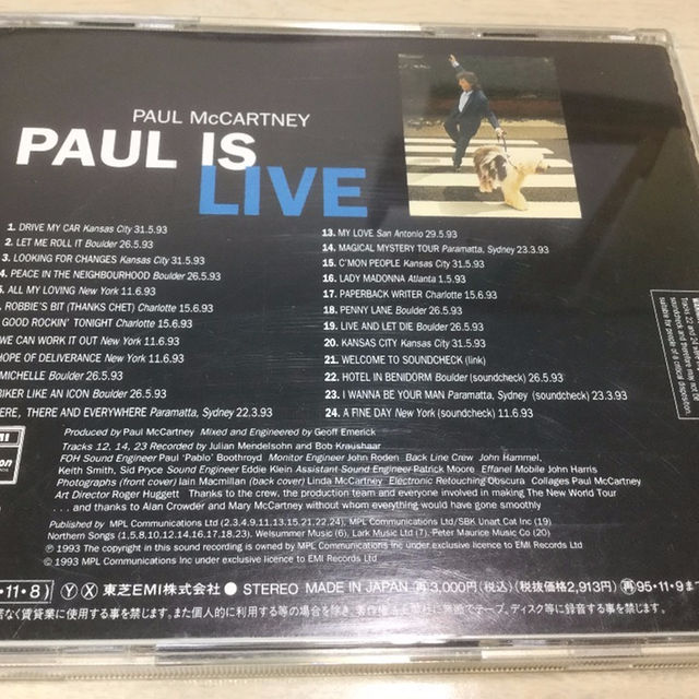 ポールマッカートニー  Paul McCartney「PAUL IS LIVE」 エンタメ/ホビーのCD(ポップス/ロック(洋楽))の商品写真