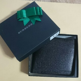 バーバリー(BURBERRY)の新品 BURBERRY 財布 折り畳み メンズ 黒 値下げ(折り財布)