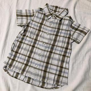 ムジルシリョウヒン(MUJI (無印良品))の無印良品 100cm 半袖シャツ シャツ 半袖 無印 MUJI リネン混(Tシャツ/カットソー)