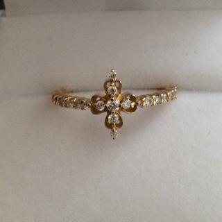 アーカー(AHKAH)のISLANDS アイランズ ダイヤモンドリング K18 YG 計0.25ct(リング(指輪))