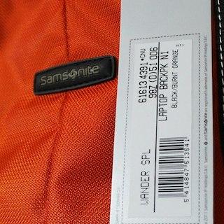 サムソナイト(Samsonite)のジョバンニさん専用【新品】Samsonite リュック オレンジ(バッグパック/リュック)