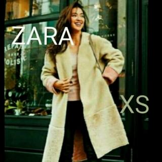 ザラ(ZARA)の最終 新品 ZARA ボア コート 中村アン 小林文 ピンク XS(ムートンコート)