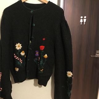 シェル(Cher)のmalion vintage 刺繍カーディガン(カーディガン)