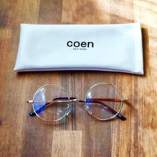 コーエン(coen)の【最終値下げ】coen☆ラウンドクリアレンズメガネ(サングラス/メガネ)