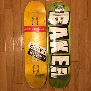 ベイカー(BAKER)の【中古】スケートボードデッキ 2枚セット (送料込み)(スケートボード)