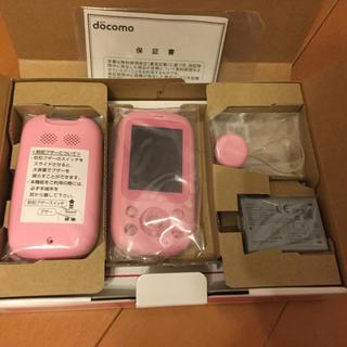 エヌティティドコモ(NTTdocomo)のキッズケータイF-03J富士通ピンク未使用ガラケー子供用(携帯電話本体)