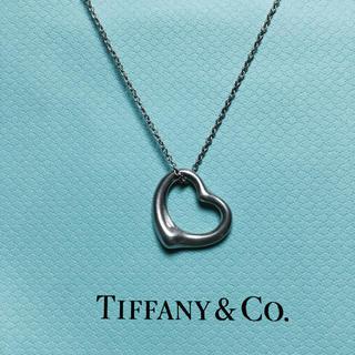 ティファニー(Tiffany & Co.)のTiffany オープンハートネックレス 大 美品(ネックレス)