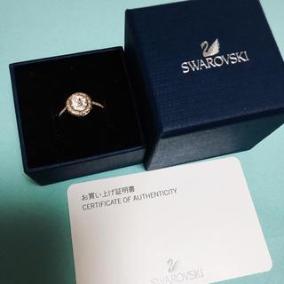 スワロフスキー(SWAROVSKI)のSWAROVSKI ラウンドマイクロパヴェリング 美品(リング(指輪))