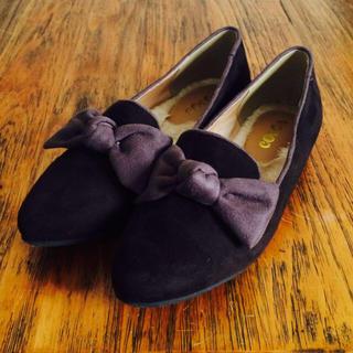 ぺたんこリボン靴(ハイヒール/パンプス)