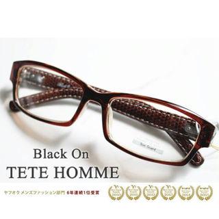 定価7900円+税 未使用紫外線カット率99%伊達眼鏡♪TETE  HOMME