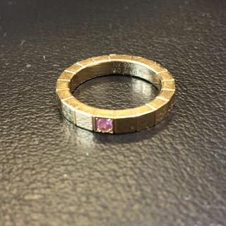 カルティエ(Cartier)のカルティエ  ラニエール リング ピンクサファイア ピンクゴールド pg #48(リング(指輪))