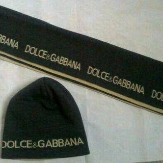 ドルチェアンドガッバーナ(DOLCE&GABBANA)のDOLCE&GABBANA ドルガバ マフラー ニット帽 セット リバーシブル(その他)
