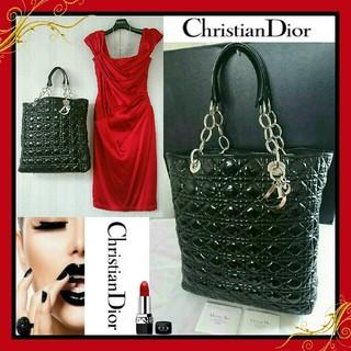 クリスチャンディオール(Christian Dior)の良好💖Christian Diorラグジュアリーパテントレザーカナージュトート(トートバッグ)