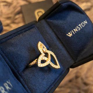 ハリーウィンストン(HARRY WINSTON)の値下げ☆ハリーウィンストン リリークラスター イエローゴールド指輪(リング(指輪))