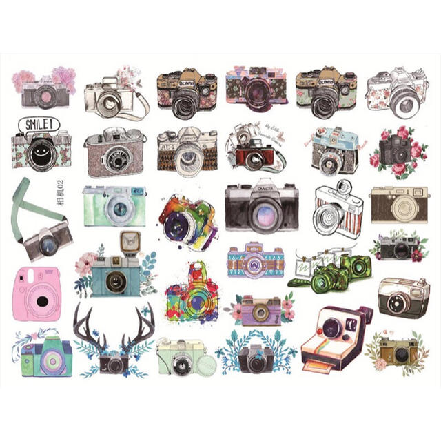 カメライラストステッカーカラーverの通販 By Juices Shopラクマ