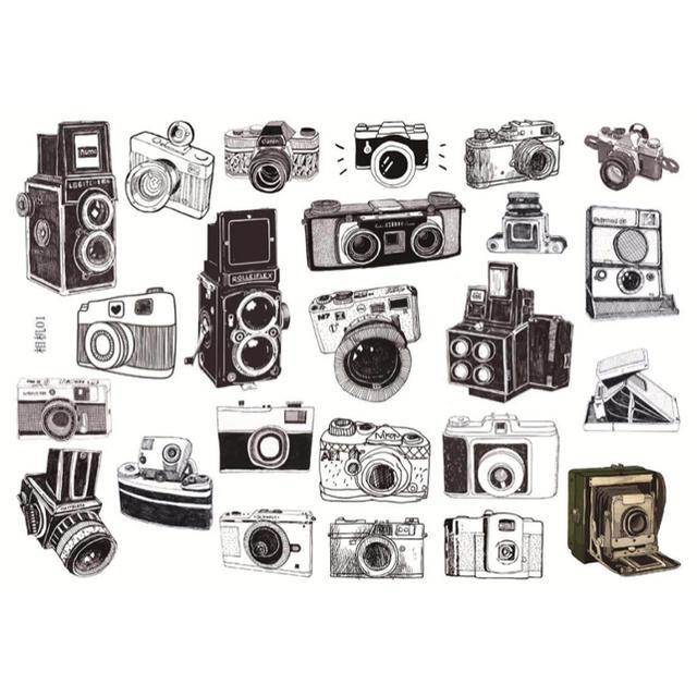 カメライラストステッカーモノクロverの通販 By Juices Shopラクマ