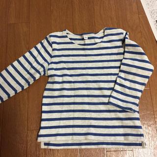 ムジルシリョウヒン(MUJI (無印良品))の無印 ボーダー 長袖 100(Tシャツ/カットソー)