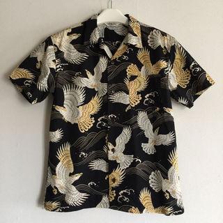 キャリー(CALEE)の定価21600円!CALEE半袖イーグルアロハシャツ(シャツ)