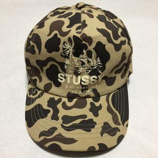 ステューシー(STUSSY)のSTUSSY迷彩柄トラッカーキャップ帽子(その他)
