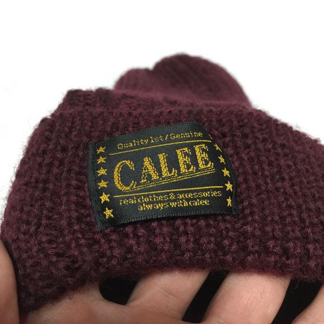 CALEE(キャリー)のCALEE 折り返しニットキャップ 帽子 メンズの帽子(その他)の商品写真
