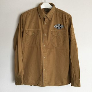 キャリー(CALEE)の定価17325円!CALEE長袖ワッペン付きシャツ(シャツ)