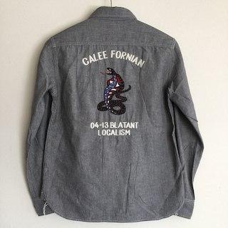 キャリー(CALEE)の定価20520円!CALEEキャリー長袖シャンブレーシャツ(シャツ)