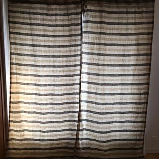 ムジルシリョウヒン(MUJI (無印良品))の無印 ボーダーカーテン 213×100 2枚セット(カーテン)
