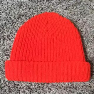 ハイスタンダード(HIGH!STANDARD)のHIGH! STANDARDハイスタンダード購入のアメリカ製ニット帽ビーニー(ニット帽/ビーニー)