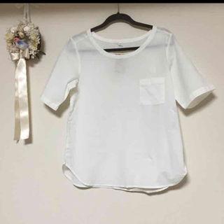 ムジルシリョウヒン(MUJI (無印良品))のMUJI 無印良品 涼感五分袖Tシャツ  綿 100パーセント 新品(その他)