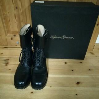 ヒステリックグラマー(HYSTERIC GLAMOUR)の定価54600円・新品ヒステリックグラマー  革ブーツ(ブーツ)