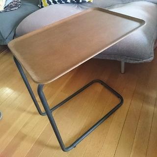ムジルシリョウヒン(MUJI (無印良品))の値下げ 無印良品 スチールパイプ サイドテーブル ブラウン 旧型(コーヒーテーブル/サイドテーブル)