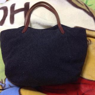ムジルシリョウヒン(MUJI (無印良品))の無印良品 フェルト×革バッグ チャコールグレー(トートバッグ)