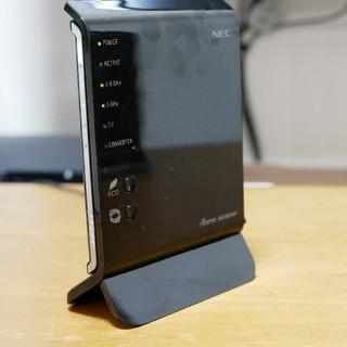 エヌイーシー(NEC)の【フラッグシップモデル高速ルータ】NEC AtermWG1800HP①(PC周辺機器)
