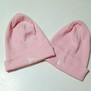 ニューエラー(NEW ERA)の【新品・未使用】ニューエラ ニット帽 ピンク(ニット帽/ビーニー)