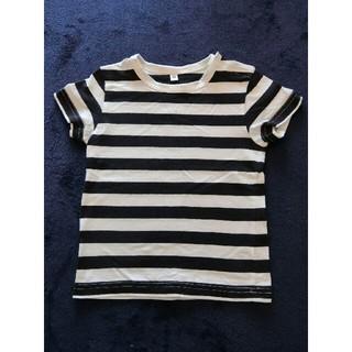 ムジルシリョウヒン(MUJI (無印良品))の無印⚫紺×白ボーダーTシャツ⚫90サイズ(Tシャツ/カットソー)