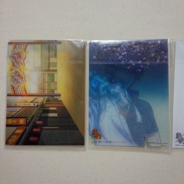 銀魂『銀時』ポストカード&ミニクリアファイルセット エンタメ/ホビーのアニメグッズ(クリアファイル)の商品写真