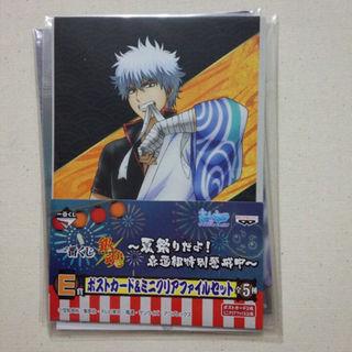 銀魂『銀時』ポストカード&ミニクリアファイルセット(クリアファイル)