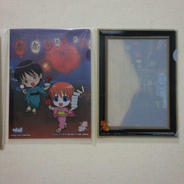 銀魂『万事屋』ポストカード&ミニクリアファイルセット エンタメ/ホビーのアニメグッズ(クリアファイル)の商品写真