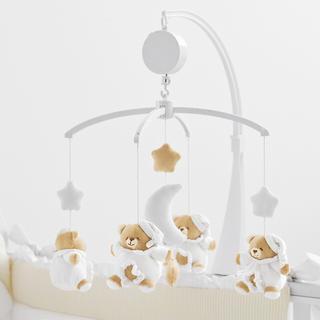 nanan ナナン ベッドメリー ホワイト 白(オルゴールメリー/モービル)