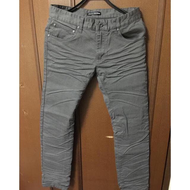 TETE HOMME(テットオム)の(゚∀゚)フリル出品記念品!新品未使用TETEHOMEE シワ加工スキニー メンズのパンツ(デニム/ジーンズ)の商品写真