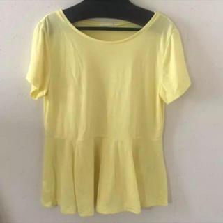 ジーユー(GU)のGU 半袖シャツ イエロー(Tシャツ(半袖/袖なし))