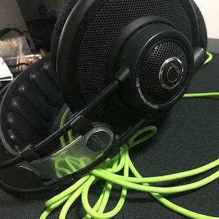 アイリバー(iriver)のAKG Q701のヘッドホンです。(ヘッドフォン/イヤフォン)