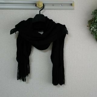 シマムラ(しまむら)のマフラーストール薄手ニット素材ブラック(マフラー/ショール)
