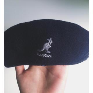 カンゴール(KANGOL)のカンゴール ハンチング帽 ネイビー(ハンチング/ベレー帽)