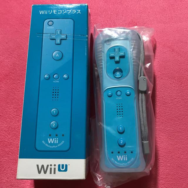 Wii U(ウィーユー)のwiiリモコンプラス 青 エンタメ/ホビーのテレビゲーム(その他)の商品写真