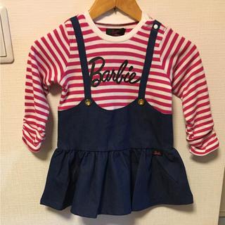 バービー(Barbie)のBarbie♡サロペットスカート風ワンピース(ワンピース)