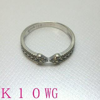 ■K10WG ダイヤモンドリング(リング(指輪))
