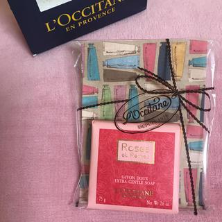 ロクシタン(L'OCCITANE)のロクシタン❤︎ピンク❤︎石鹸❤︎化粧石鹸❤︎おしゃれ❤︎バラ❤︎ローズ❤︎(ボディソープ / 石鹸)