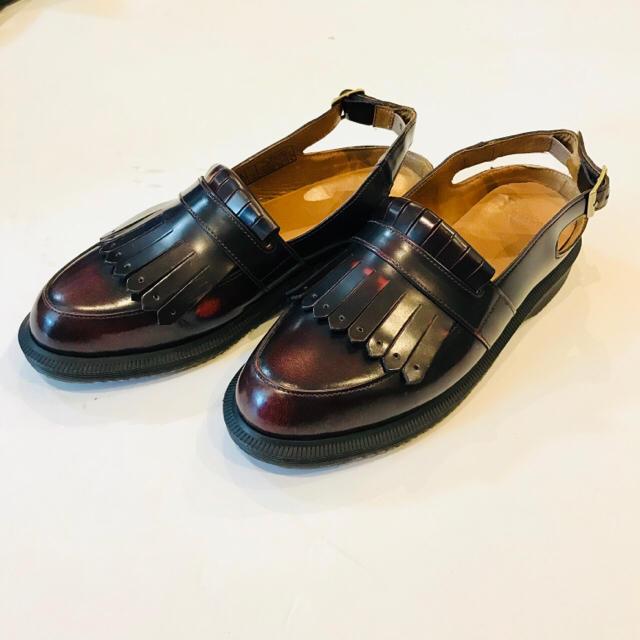 Dr.Martens(ドクターマーチン)の✴︎nobuko様専用✴︎ドクターマーチン フリンジ チェリーレッド レディースの靴/シューズ(サンダル)の商品写真