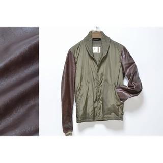 d0e1087628bd グッチ(Gucci)の美品 GUCCI レザースタジャン 牛革 ボンバージャケット ジップブルゾン(